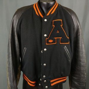 Vtg 1949 Black Letterman Jacket 48 Anderson